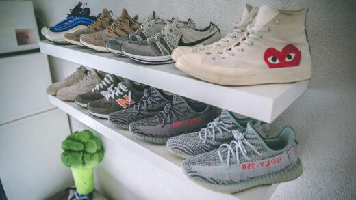 Etagère Ikea LACK murale display horizontal sneakers
