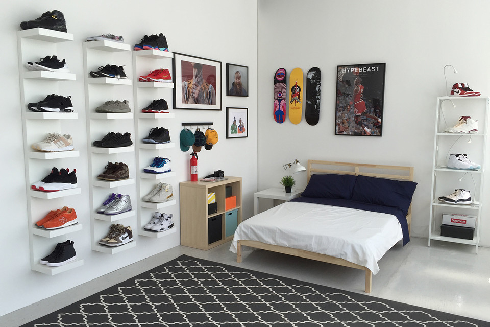 Etagère Ikea LACK murale display sneakers