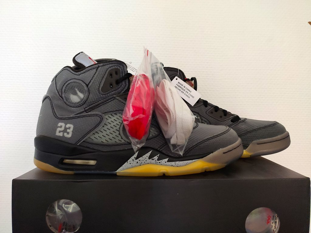 Jordan 5 x Off-White deadstock with tags (DSWT)